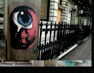 A Paul Insect Babyhead on the Streets of London